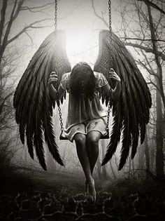 Looking for new sexy fairy angel tattoo design ideas? Fantasy Kunst, Dark Fantasy Art, Dark Art, Gothic Angel, Gothic Art, Imagenes Dark, Engel Tattoos, Sad Angel, Angel Drawing
