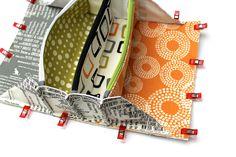 Sew Together Bag #ReelTime, #ZenChic, #Moda fabrics