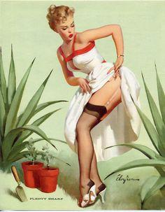"""Plenty Sharp"" by Gil Elvgren 1959"