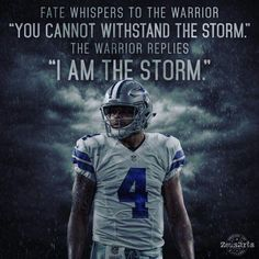 Cowboys fans love Dak Prescott, and for good reason. Here's a fans depiction of him and a powerful quote to match a powerful image of him. Dallas Cowboys Football, Dallas Cowboys Quotes, Dallas Cowboys Images, Dallas Cowboys Wallpaper, Sports Football, Cowboys 4, Football Memes, Football Sayings, Football Prayer