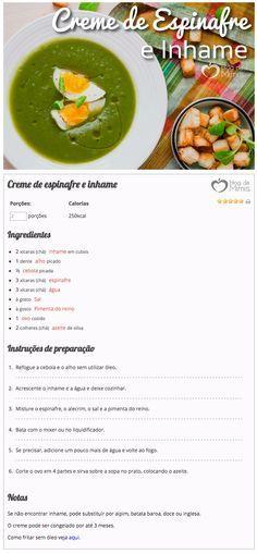 creme de inhame e espinafre do Blog da Mimis - Sopinha no inverno é tudo de bom! Com poucas calorias e super nutritiva.