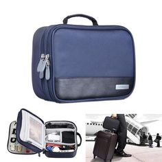 Gadget Devices Organizer USB Cable Charger Tote Case Storage Bag Travel  Organizador. Storage Containers ... c202b0efc4013