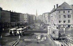 Wall Street 1860's - Looking west from the East River