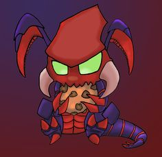 Cho gath form League of Legends transformed in a tiny creature...