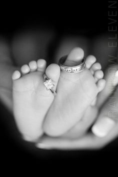 "Newborn photo...could caption with ""all because two people feel in love"" <3"