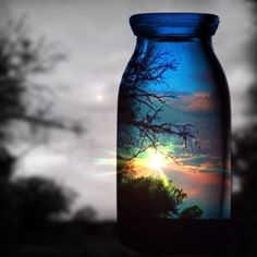 Jar reflections/time in a bottle