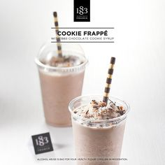 Cookie Frappé with 1883 Chocolat Cookie syrup #barista #frappe #milkshake #cookie