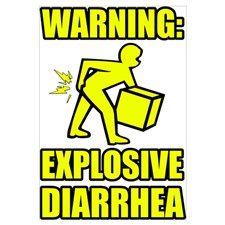 Explosive Diarrhea  #poop #diarrhea #funny #humor #humorous #gross #sick #graphicart