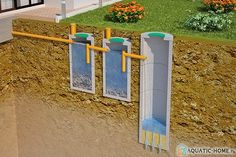 Septic Tank Design, Septic Tank Systems, Septic System, Cd Card, Perspective Room, Outdoor Toilet, Steel Frame House, Concrete Walkway, Backyard Lighting