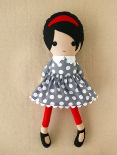 Custom Listing for Janice Fabric Doll Rag Doll by rovingovine
