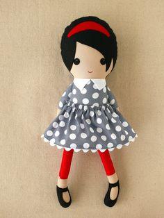 Custom Listing for Janice Fabric Doll Rag Doll by rovingovine