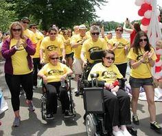 Team Toni's Tigers at the 2014 Saddle Brook Walk to Defeat ALS!
