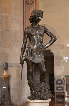 Verrocchio's David (commissioned by the Republic of Florence), 1465