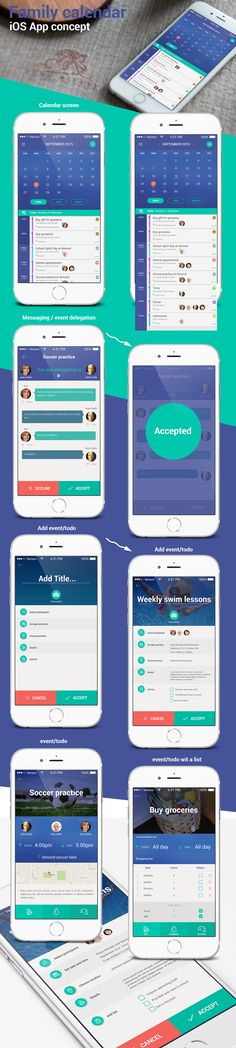 Family calendar iOS app concept on Behance