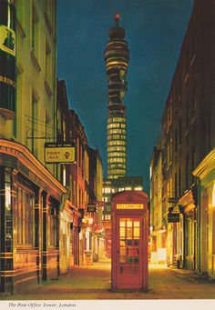 vintage post card of The Post Office Tower, London