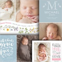 Storyboard Template  Newborn Photo Collage  Baby Love by FOTOVELLA