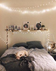 Epic Stunning Light Interior Bedroom Ideas For Comfortable Bedroom freshouz. - Emma Lee home Small Room Bedroom, Small Rooms, Bedroom Decor, Bedroom Ideas, Bedroom Lighting, Bedroom Styles, Design Bedroom, Dorm Room, Dream Rooms