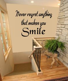 Never Regret Anything That Makes You Smile by makeminepersonal, $14.00