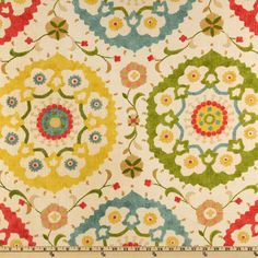 Richloom Cornwall Garden from @fabricdotcom  From Richloom this fabric is screen printed on a linen/rayon blend and very versatile. Perfect for window accents (draperies, valances, curtains and swags), toss pillows, bed skirts, duvet covers, slipcovers and more! Get creative with tote bags and aprons, too! Colors include gold, tan, teal, teaberry rose, golden ochre and olive on a natural background.