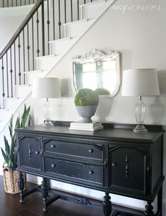 Love this dining room chalk board idea over the buffet. * Want to know more, click on the image. #creativehome