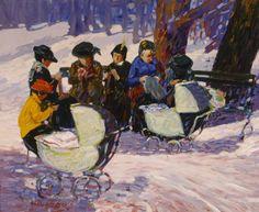 woman knitting painting - Buscar con Google William Glackens, Henri Matisse, Monet, Ashcan School, Knit Art, City Scene, Great Paintings, Art Database, Belle Photo