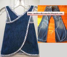 Moda e Dicas de Costura: RECICLAGEM DE CALÇA JEANS - 4