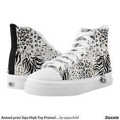 Animal print Zipz High Top Printed Shoes