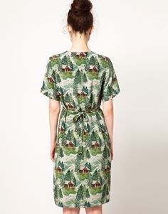 Peter Jensen Straight Dress in Lodge Print.