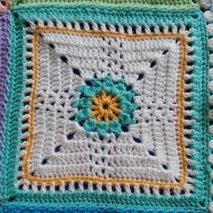 Desert Lily Crochet Block, free pattern by Danielle Day Hines