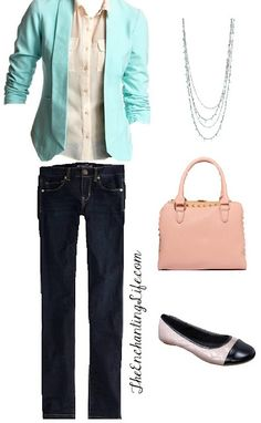 """Interview Outfit from TheEnchantingLife.com- Though I would suggest that it's more """"Casual Friday"""""""