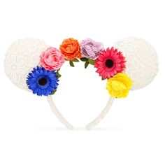 Product Image of Minnie Mouse Floral Ears Headband # 1
