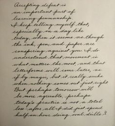 Learning The Palmer Method Of Business Writing - Page 9 - Handwriting & Handwriting Improvement How To Write Calligraphy, Calligraphy Handwriting, Calligraphy Letters, Penmanship, Caligraphy, Cursive Handwriting Practice, Handwriting Examples, Handwriting Styles, Handwriting Analysis