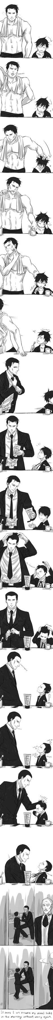 Ownn...Bruce Wayne and Little Dick Grayson :)
