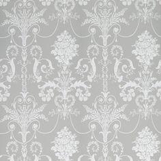 Josette Steel Damask Wallpaper