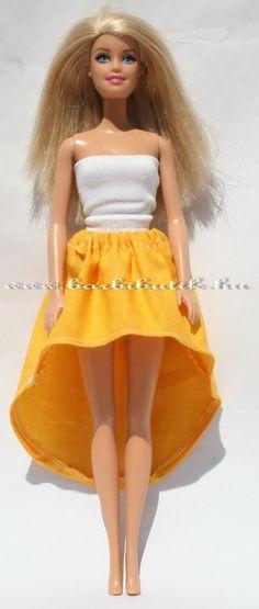 4c3b00fad3 Barbie szoknya elöl rövid hátul hosszú, szabásminta és leírás./ Barbie  skirt pattern and tutorial.