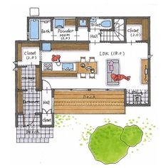 House Layout Plans, House Layouts, Hall Closet, Home Goods, Floor Plans, Flooring, How To Plan, Architecture, Room
