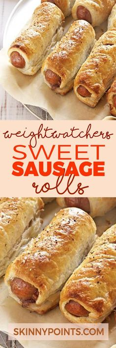 Sweet Sausage Rolls come with only 5 weight watchers smart points paleo lunch sausage Weight Watcher Dinners, Weight Watchers Lunches, Plats Weight Watchers, Weight Watchers Breakfast, Weight Watchers Smart Points, Weight Watchers Diet, Weight Watchers Meetings, Ww Recipes, Skinny Recipes