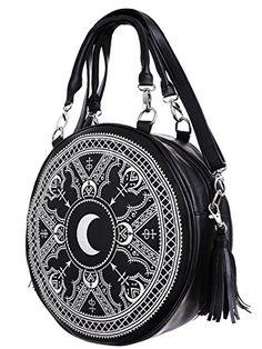 Back In Stock! Gothic Occult Henna Round Bag Black Faux Leather ... https://www.amazon.com/dp/B01LZXQU7T/ref=cm_sw_r_pi_dp_x_UOu0ybRPB4WRQ