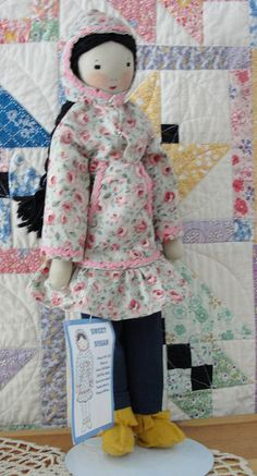 Edith Flack Ackley pattern from Dolls for Fun and Profit, wears an Alaskan summer Kuspuk