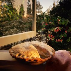 """A hot apple pie on the kitchen window ledge."" —Rindy Lynn Babeshoff   - HouseBeautiful.com"
