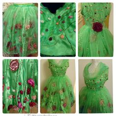Handmade embroidery using silk thread on a hand patterned and hand sewn dress using green satin fabric and organza and roses made by hand. Green Satin, Silk Thread, Satin Fabric, Hand Sewing, Embroidery, Rose, Pattern, Handmade, Dresses
