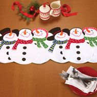 Embroidered Snowman Winter Table Runner from CollectionsEtc. $10/99
