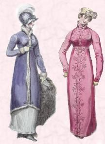 1812 - Regency Pelisse Coats - Walking Dress.