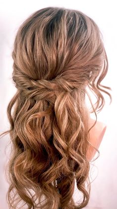 Dance Hairstyles, Wedding Hairstyles For Long Hair, Wedding Hair And Makeup, Bride Hairstyles, Medium Updo Hairstyles, Hair Ideas For Wedding Guest, Simple Homecoming Hairstyles, Hair For Homecoming, Curly Updos For Medium Hair