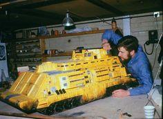 the roadbuilding machine