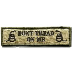 Don't Tread On Me Tactical Morale Patch - Multitan by Gadsden and Culpeper, http://www.amazon.com/dp/B0076S01K8/ref=cm_sw_r_pi_dp_koiDrb07067VK