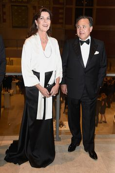 Princess Caroline of Monaco attends a charity evening at the Rijksmuseum in Amsterdam, The Netherlands. November 7, 2014
