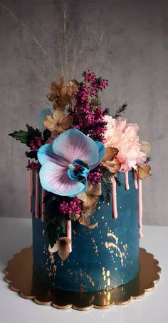 Elegant Birthday Cakes, Beautiful Birthday Cakes, Elegant Cakes, Beautiful Wedding Cakes, Gorgeous Cakes, Pretty Cakes, Cute Cakes, Amazing Cakes, Elegant Wedding