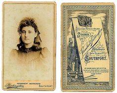 Carte De Visite Front And Back Of Lambert Partington Photographer Southport
