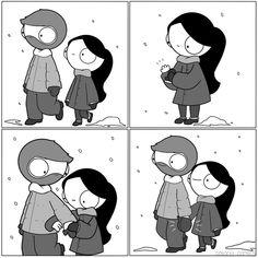 Glove Love, Smitten Mitten, an art print by Catana Chetwynd - INPRNT Relationship Comics, Funny Relationship Memes, Relationship Goals, Marriage Humor, Couples Comics, Funny Couples, Anime Couples, Catana Chetwynd, Dating Humor